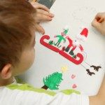 Drawing a Picture for Santa